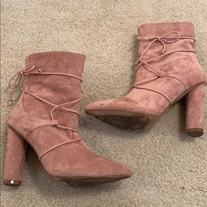 Shoes - Pink heeled boots